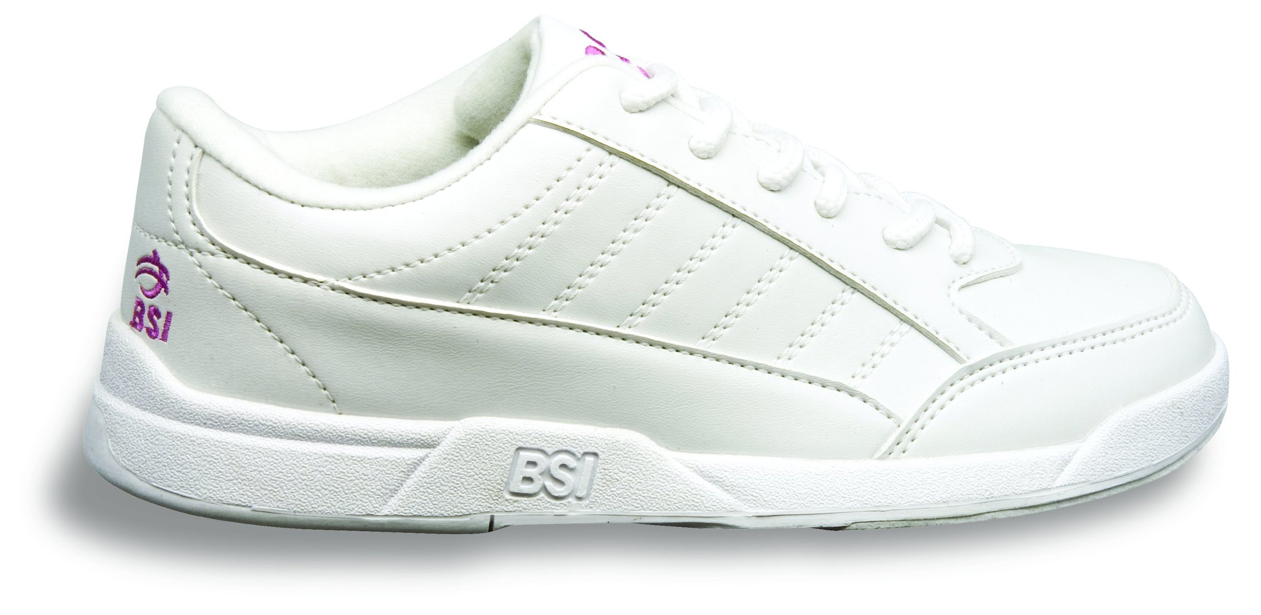 BSI Girl's Basic #432 Bowling Shoes, White, Size 1.0