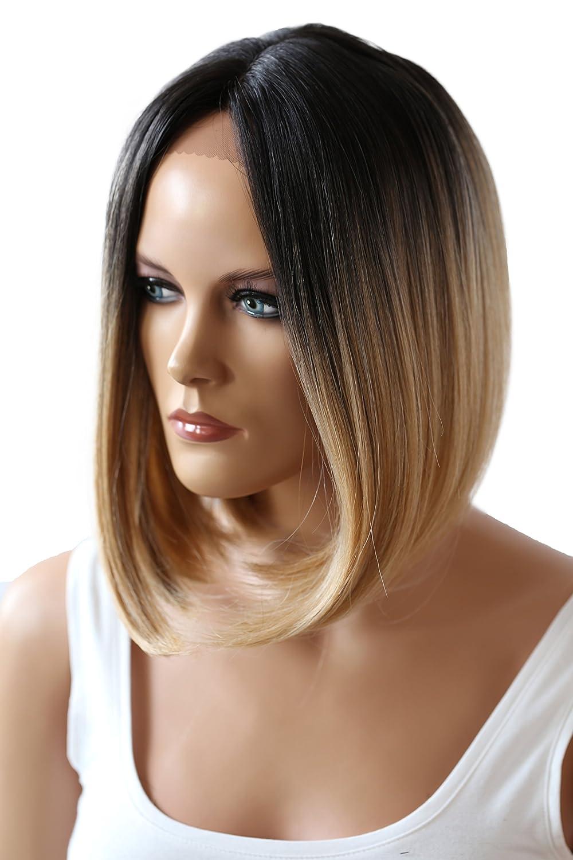 Prettyshop Unisex Full Wig Short Hair Bob Page Heat Resistant