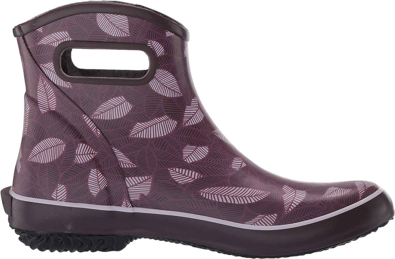 BOGS Womens Patch Ankle Waterproof Garden Rain Boot