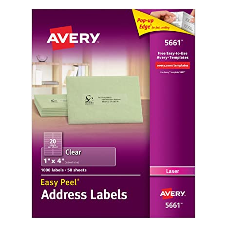 Amazon Avery Clear Easy Peel Address Labels For Laser Printers