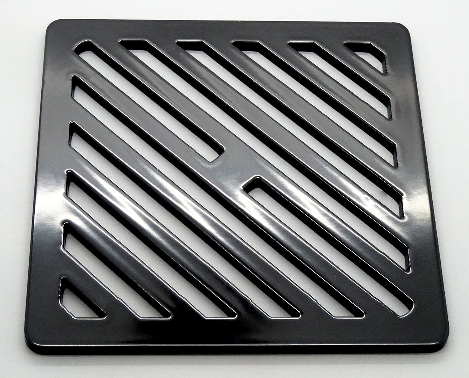 175mm 17.5cm Square solid metal steel Gully Grid Heavy Duty Drain Cover grate like cast iron, stronger Lakeland Steel Ltd