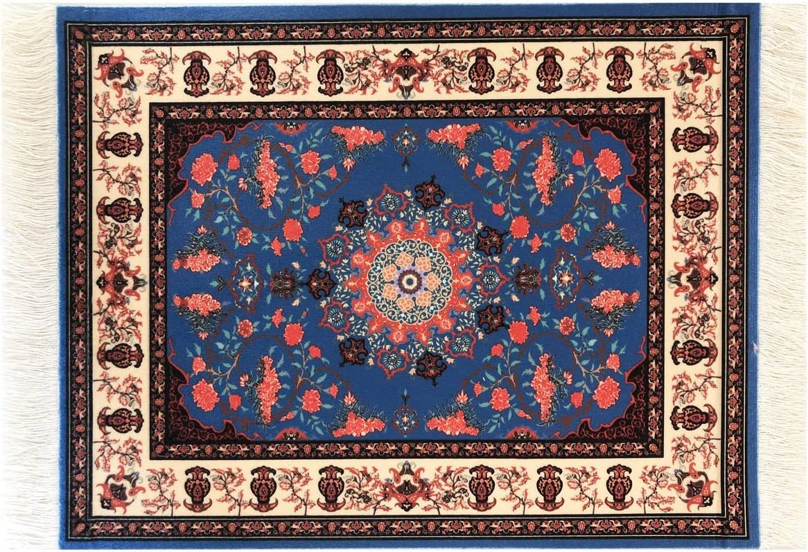 Oriental Rug Mouse Pad with Fringes- Turkish Style Carpet Mousemat - Great Gift