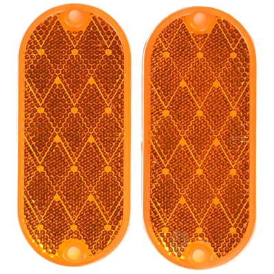 Peterson Manufacturing V480A Amber Reflector: Automotive