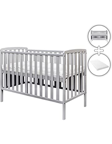 Amelia Cot Grey with Kinder Flow Mattress