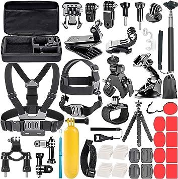 Neewer Kit de Accesorios de Cámara de Acción 58 en 1 para GoPro Hero 7 6 5 4 3+ 3 2 1 4/5 Sesión, SJ4000/5000, Nikon y Sony Deporte DV para Montar Camping y Más: Amazon.es: Electrónica