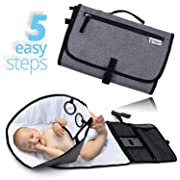 Portable Changing Pad | New Upgrade Baby Diaper Changing Mat | Diaper Travel Changing Station | Diaper Mat | for Infant Toddler Newborn Boys & Girls | Baby Products
