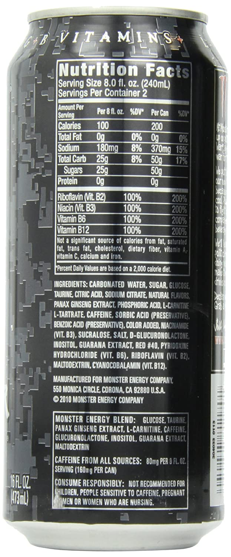 Does Monster Energy Drink Ingredients