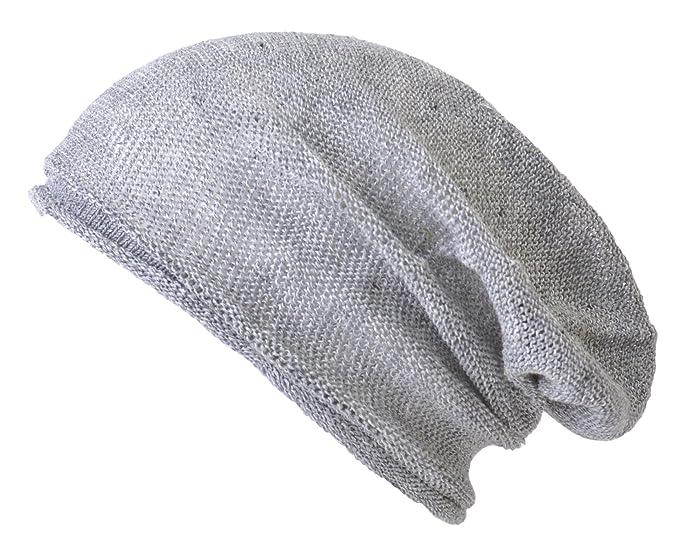 Cáñamo Verano Gorros Beanie Desgarbado Enfriamiento Tejido Sombrero Unisex Hombre Mujeres PlpZl54Nb7