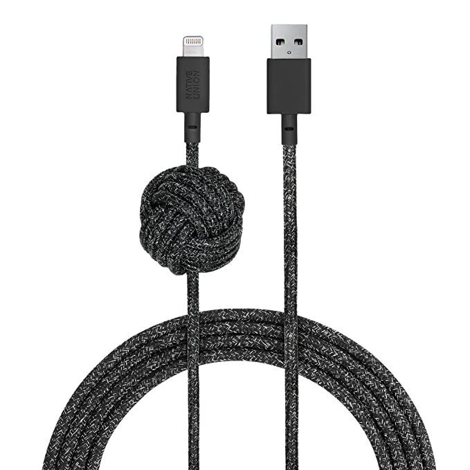 9f720d1052 Native Union Night Cable - 10ft Ultra-Strong Reinforced  Apple MFi  Certified  Durable