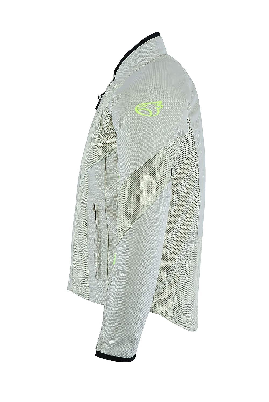 40-42 , Silver JET Textile Air Mesh Motorcycle Motorbike Summer Jacket CE Armoured NEYO Large
