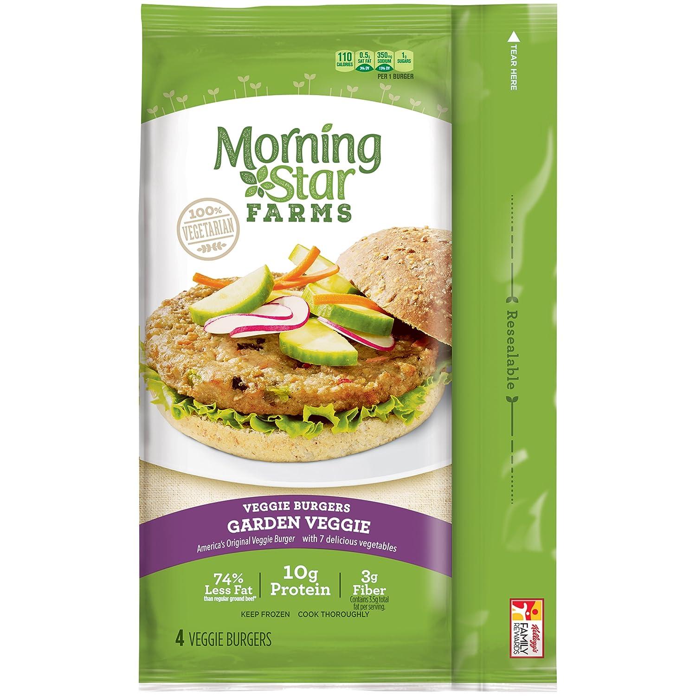 Morningstar Farms Garden Veggie Burgers 4 Count 95 Oz Frozen