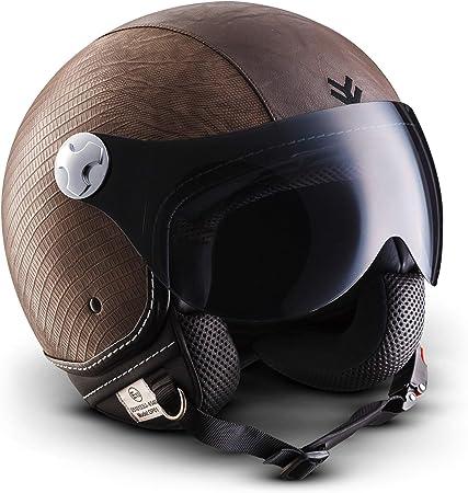 Armor Helmets Av 84 Ranger Jet Helm Motorrad Helm Roller Helm Scooter Helm Moped Mofa Helm Chopper Retro Vespa Vintage Pilot Biker Helmet Ece 22 05 Visier Schnellverschluss Tasche S 55 56cm Auto
