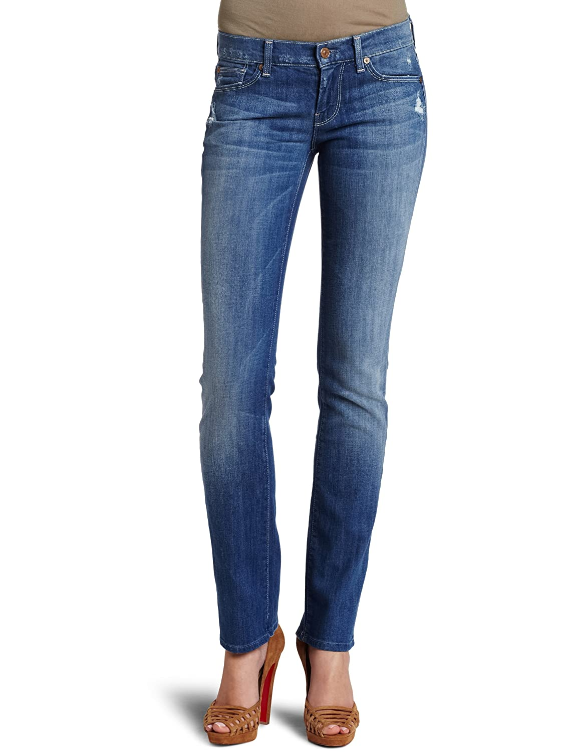 Baywater bluee 7 For All Mankind Women's Straight Leg Jean