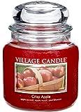 Village Candle Crisp Apple 16 oz Glass Jar Scented Candle, Medium