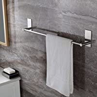 Self Adhesive Towel Bar, Ceinterau 70cm Bathroom Towel Rack Stick on Bath Towel Rail Holder No Drill, SUS 304 Stainless Steel