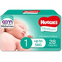 Huggies Newborn Nappies Size 1 (up to 5kg) 28 Count