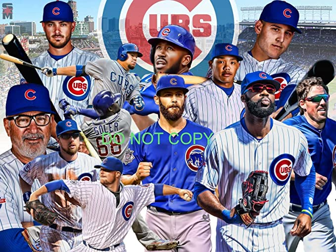 save off 85383 fcba1 2016 Chicago Cubs World Series Champions 11x14 Team Collage photo poster  photo