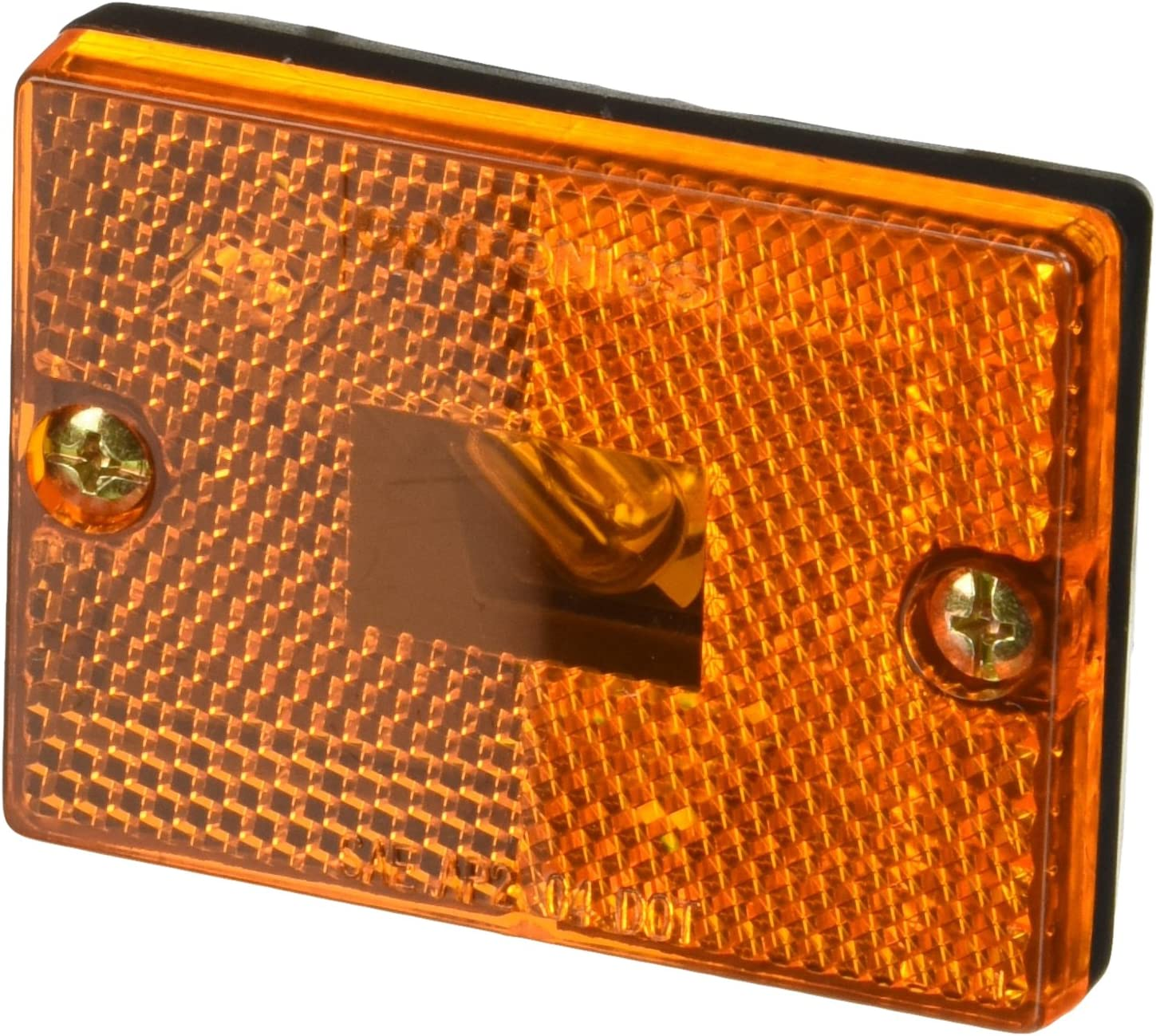 Optronics MC36ABP Trailer Surface Mount Amber Marker//Clearance Light with Reflex