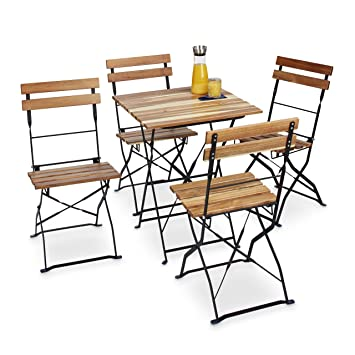 Gut gemocht Amazon.de: Relaxdays Gartenstuhl 4er Set, klappbar, Metall MT81
