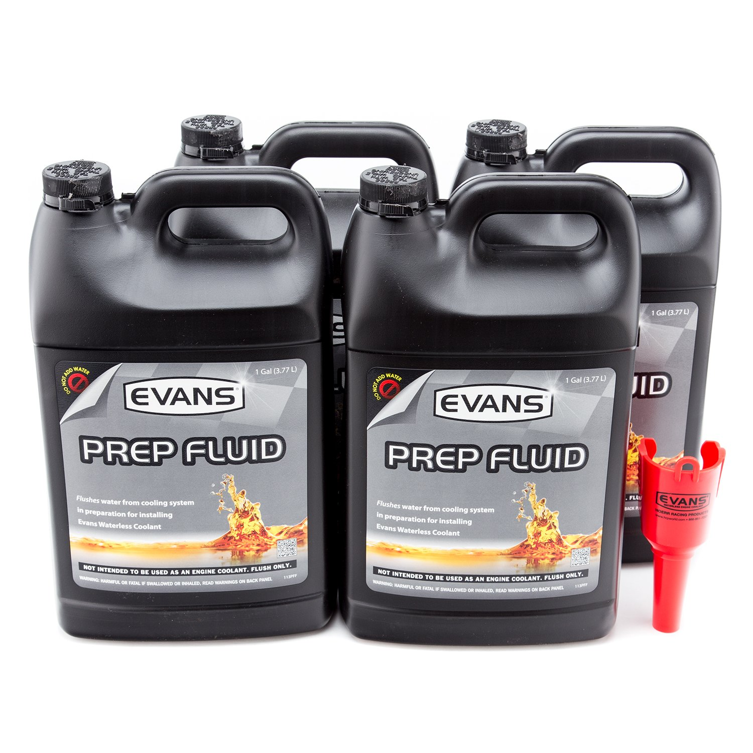 Evans Coolant Ec42001 Prep Fluid 1 Gallon 4 Pack With Engine Drain Plug Jeep Funnel Automotive