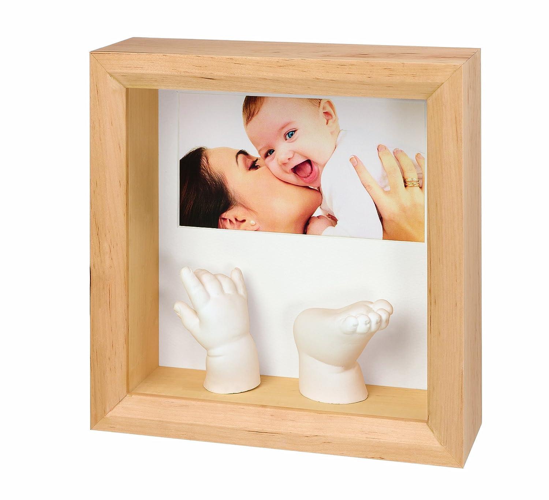 Baby Art 34120081 - Photo Sculpture Frame - Rahmen für Foto und 3D Hand- und Fußabdruck