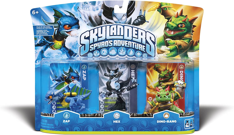 Skylanders Spyros Adventure: Triple Character Pack (Zap, Hex, Dino-Rang): Amazon.es: Videojuegos