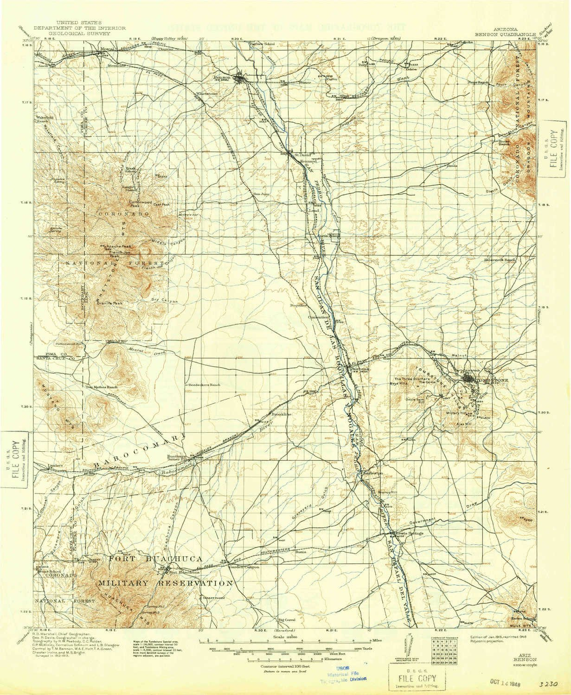 Topographic Map Arizona.Amazon Com Yellowmaps Benson Az Topo Map 1 125000 Scale 30 X 30