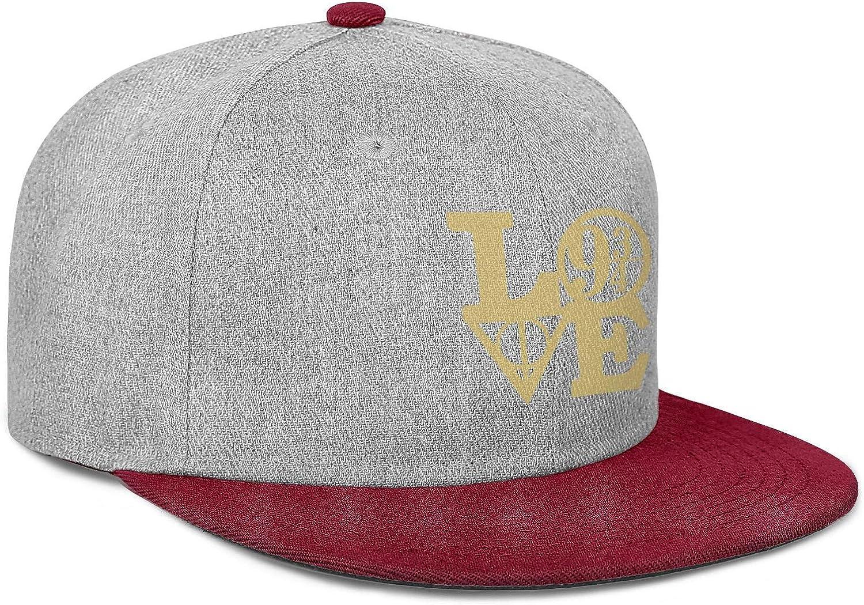 Baseball Cap Snapbacks Womens Flat Brim Ball Cap Gym Mens Snapback Cotton Adjustable HP-Love-Sign
