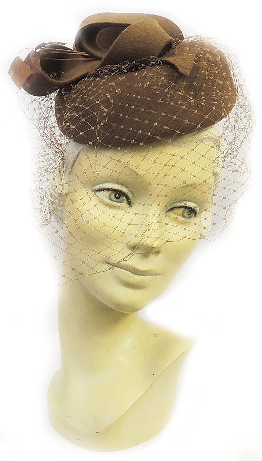 Women's Vintage Hats | Old Fashioned Hats | Retro Hats Viva-la-Rosa New Ladies VTG 1940s 1950s Retro WW2 Wartime Pin-up Pill Box Hat with Veil £29.95 AT vintagedancer.com