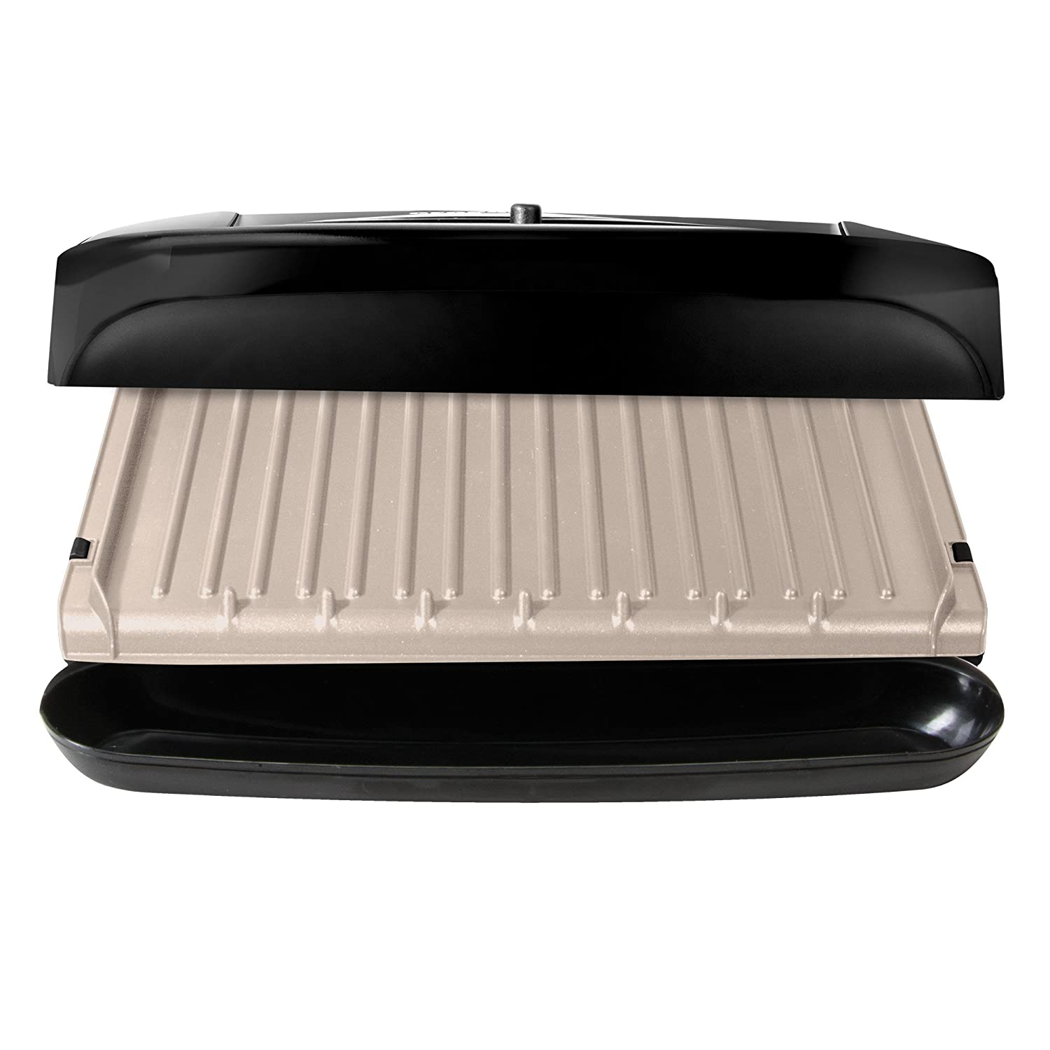 GRP1001BPC 6 Servings Black George Foreman Grill and Panini Press ...