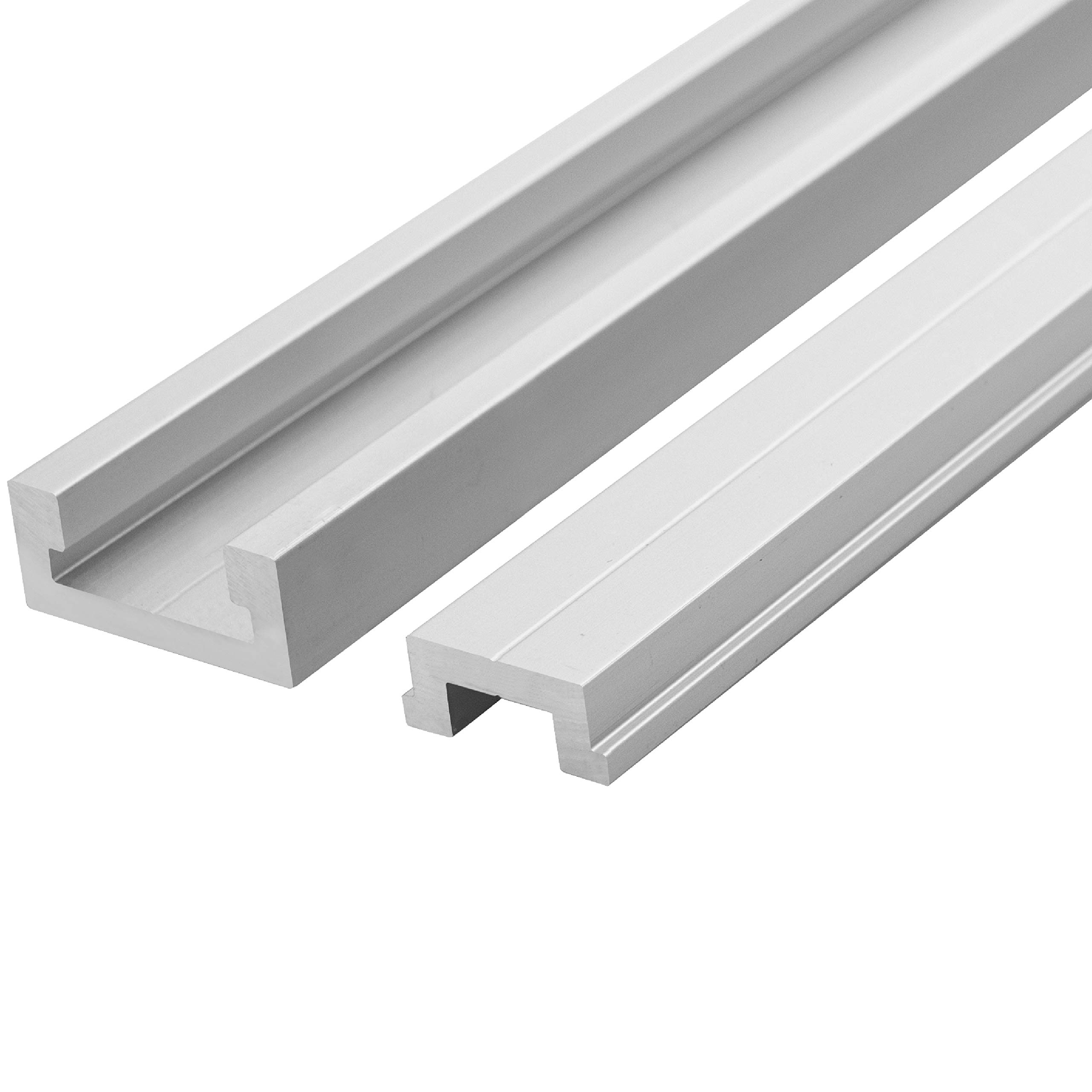 Anodized Aluminum Miter T Track w/T-Bar Rail for Jigs Fixtures Sleds Router Tables and General Woodworking 48 inch MADE IN THE USA
