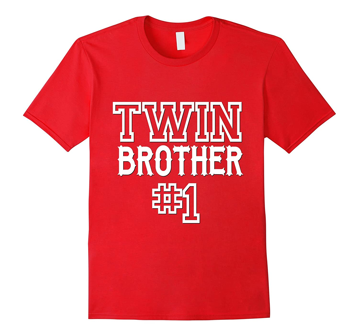 Twin Brother 1 Shirt Matching Family Kids Son Boys Gift-CD