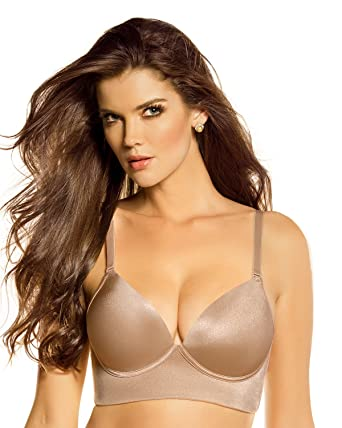 Deep Plunge Wireless Push Up Bra- Leonisa at Amazon Women's ...