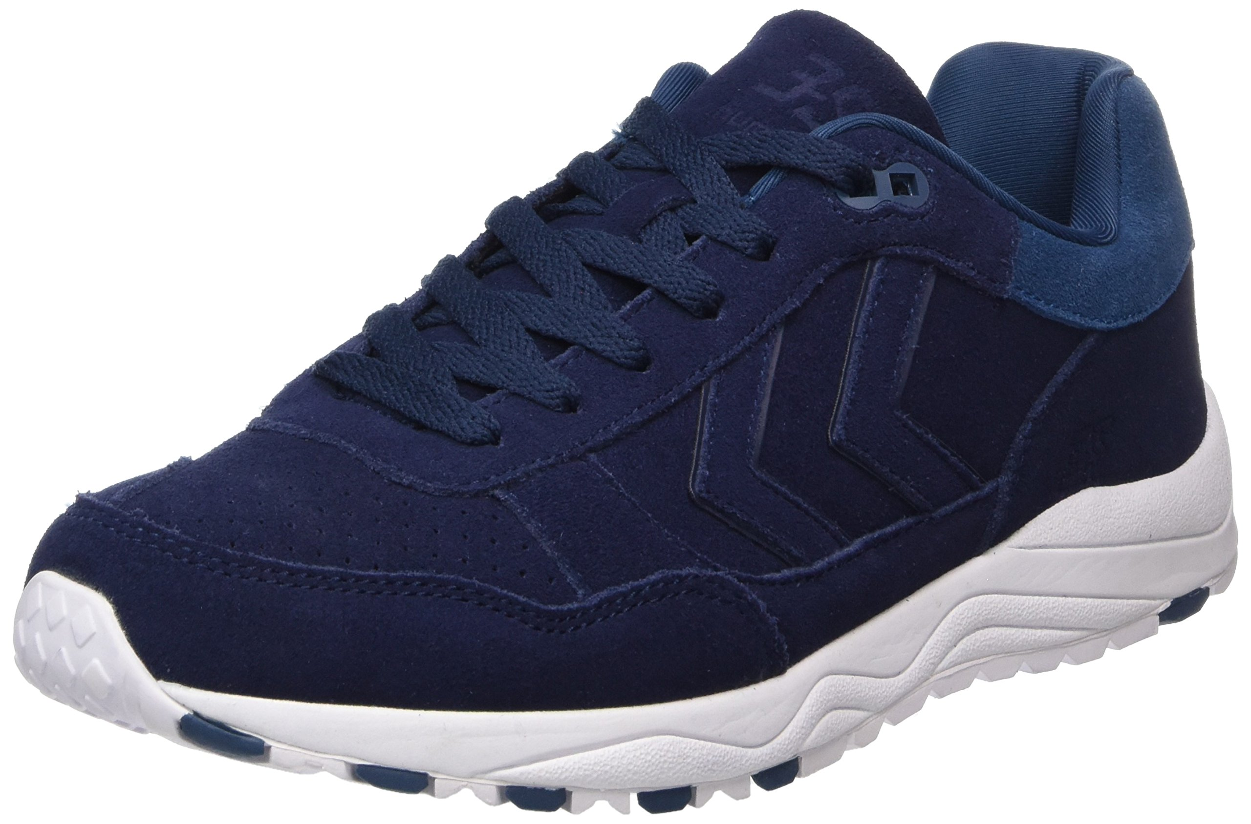 Hummel Unisex Adults' 3-S Suede Trainers, Blue (Peacoat 7666), 8 UK