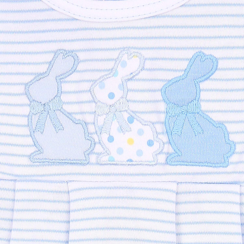 Magnolia Baby Baby Boy Bunny Applique Gown Blue
