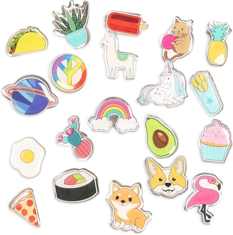 Cute Cartoon Enamel Brooch Pins Set 20 Pieces
