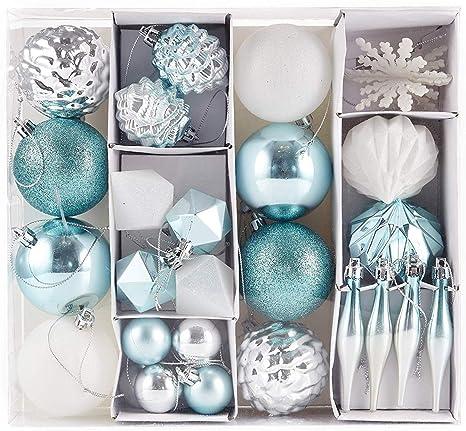 e281e5ff85a HEITMANN DECO Navidad - Juego de 29 Bolas y Adornos navideños - Decoraciones  navideñas Blancas