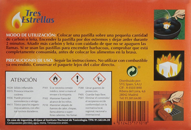 Tres Estrellas - Pastillas de Encendido - 32 unidades: Amazon.es: Alimentación y bebidas