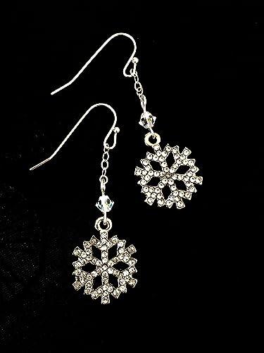 Amazon.com  Snowflake Earrings 6d6d9c86fa48