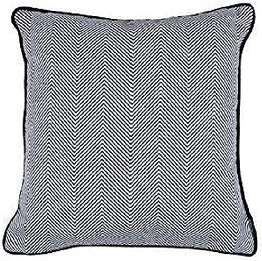 Cotton Navy white  twill  Pillow Cover Made in USA.Select size Sham cover
