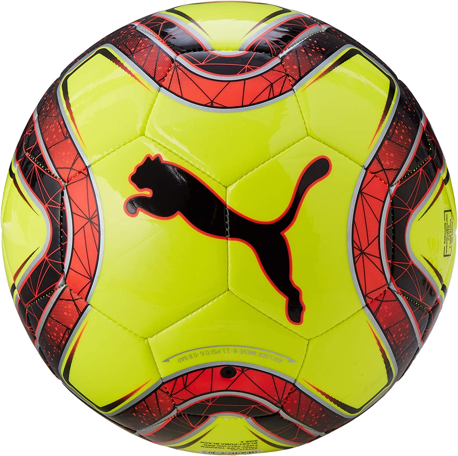 PUMA Final 6 MS Trainer Fútbol, Unisex Adulto, Fizzy Yellow/Red ...