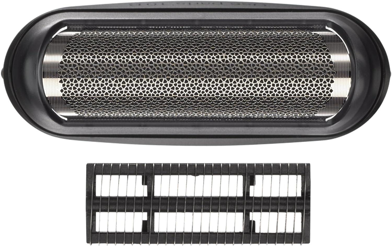 Braun 10B Pack de Recambio para Afeitadora Eléctrica Hombre Series 1/Freecontrol/CruZer con Láminas de Recambio y Portacuchillas, Negro
