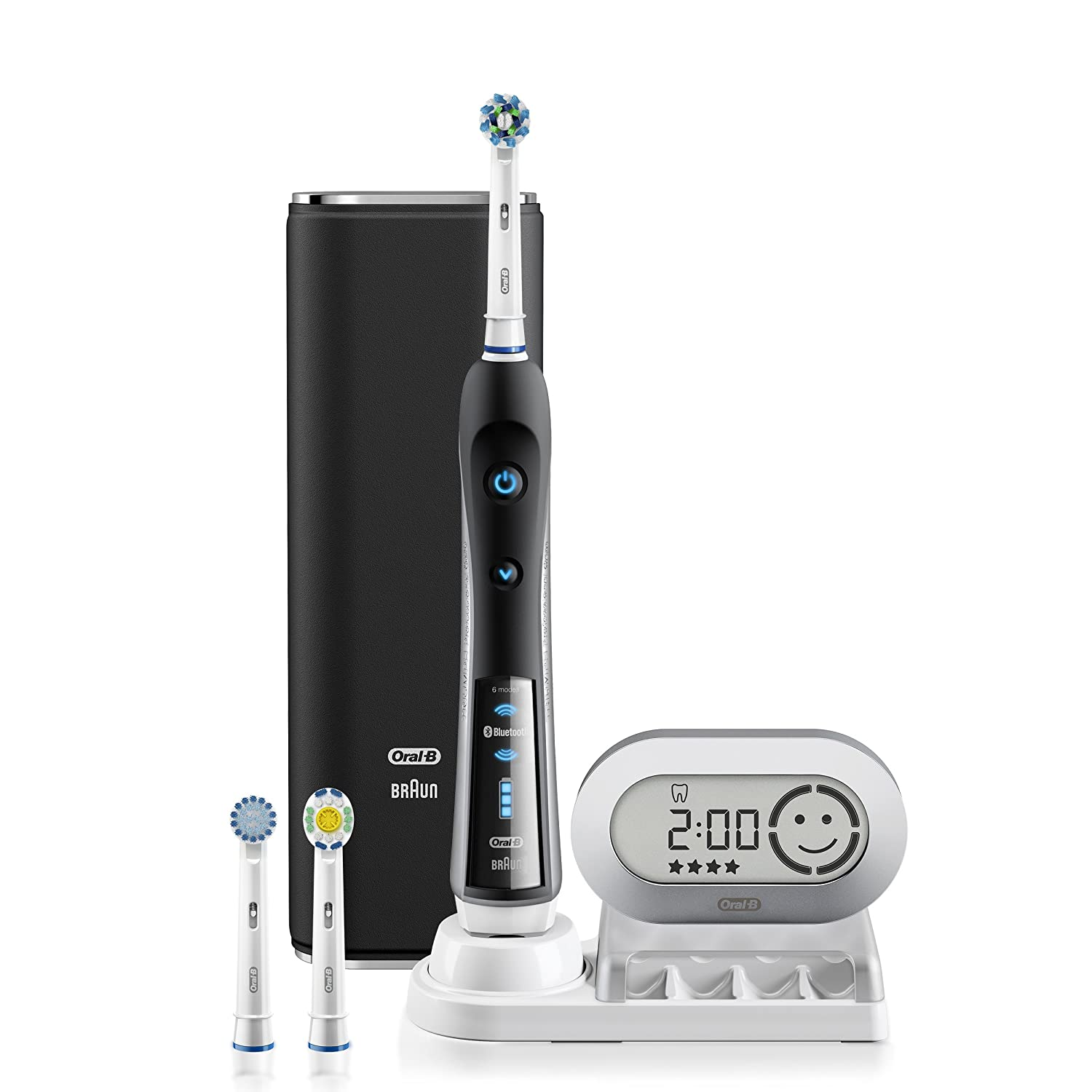 Electric Toothbrush, Oral-B Pro 7000 SmartSeries Black Electronic Power Rechargeable Toothbrush