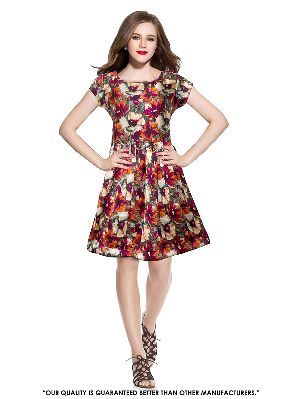 Pop Mantra Satin a-line Dress