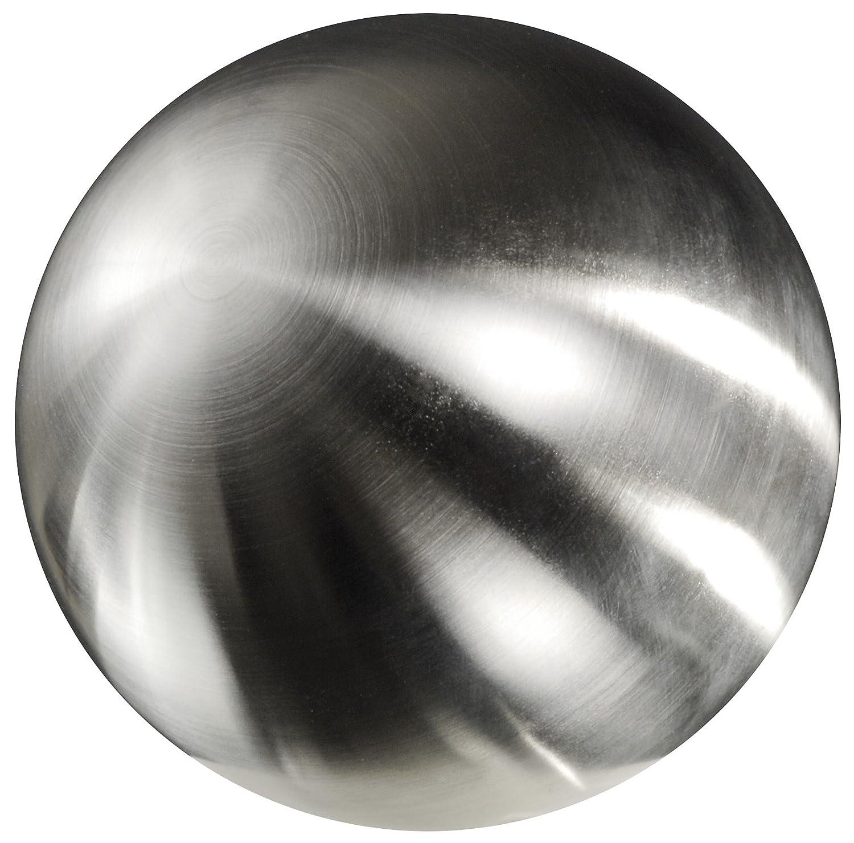 Edelstahlkugel, Hohlkugel. Farbe  gebürstet, matt, silber. Durchmesser ca 400 mm   40 cm.