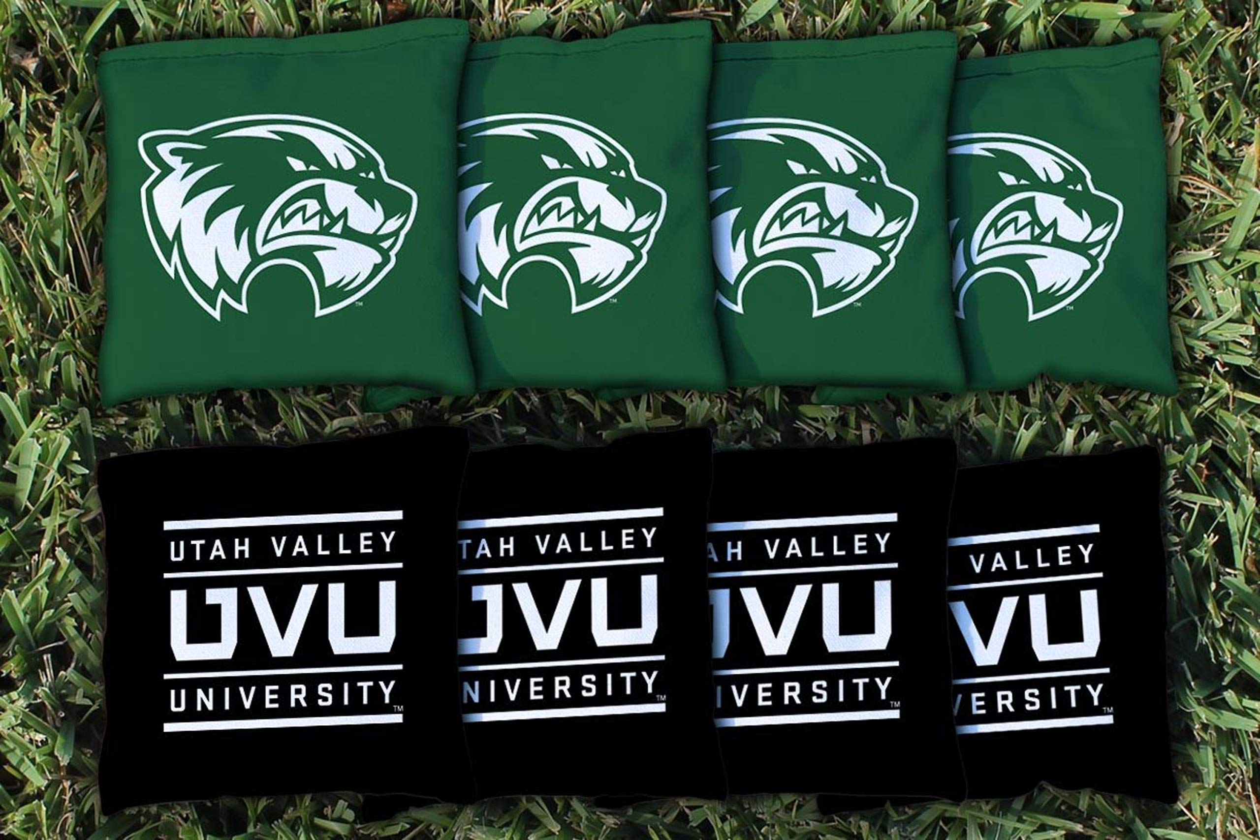 Victory Tailgate NCAA Collegiate Regulation Cornhole Game Bag Set (8 Bags Included, Corn-Filled) - Utah Valley Wolverines by Victory Tailgate