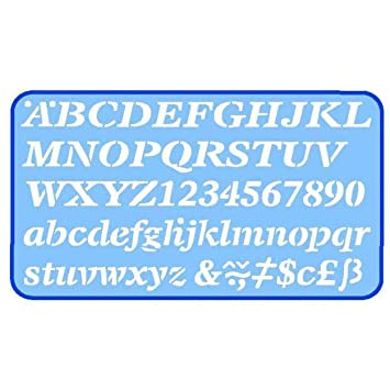Helix 20mm 2cm Italic Letter Stencil