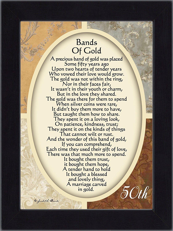 Amazon.com: Vintage Bands of Gold, Poem celebrating a couples 50th ...