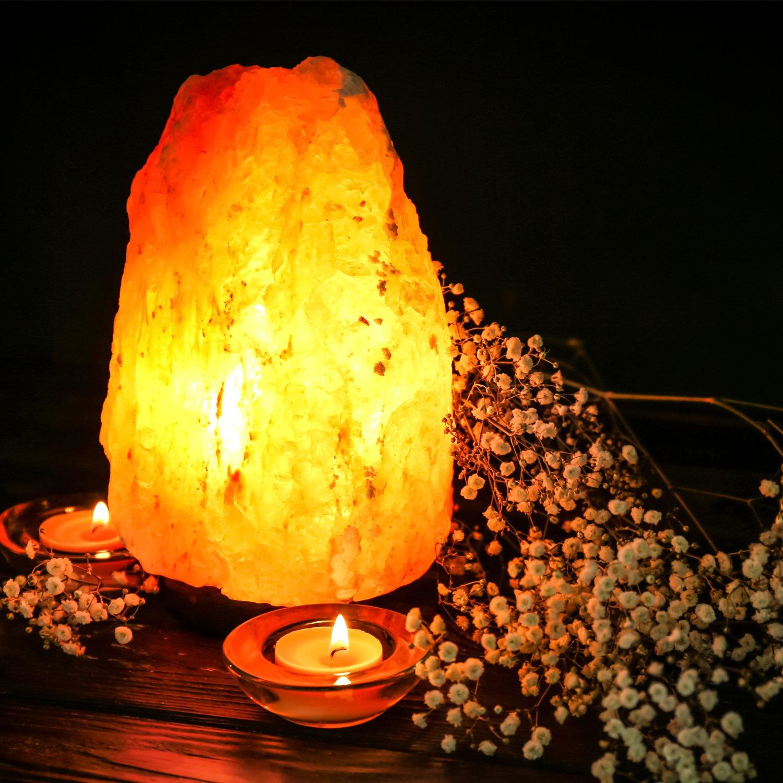 Himalayan Glow 1001 Salt Lamp, ETL Certified himalayan pink salt lamp, Home Décor Table lamps | 5-8 lbs by WBM by Himalayan Glow (Image #5)
