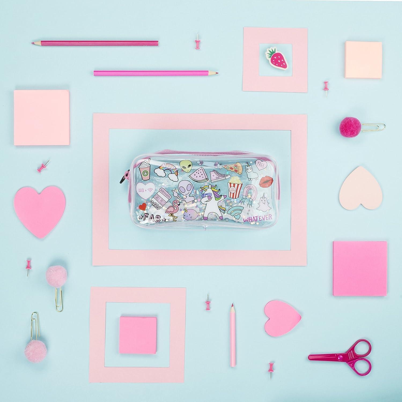 Trousse souple transparente Grande pochette Papeterie FRINGOO Cadeau pour adolescents  Large Dream Team